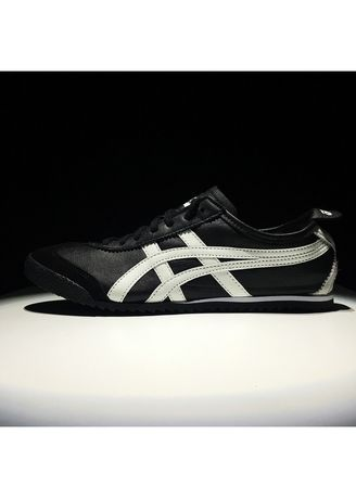 Black color Casual Shoes . Onitsuka Tiger Deluxe Original Made In Japan Black White -