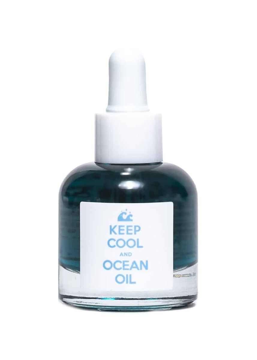 White color Serum & Treatment . Keep Cool and Ocean Oil -