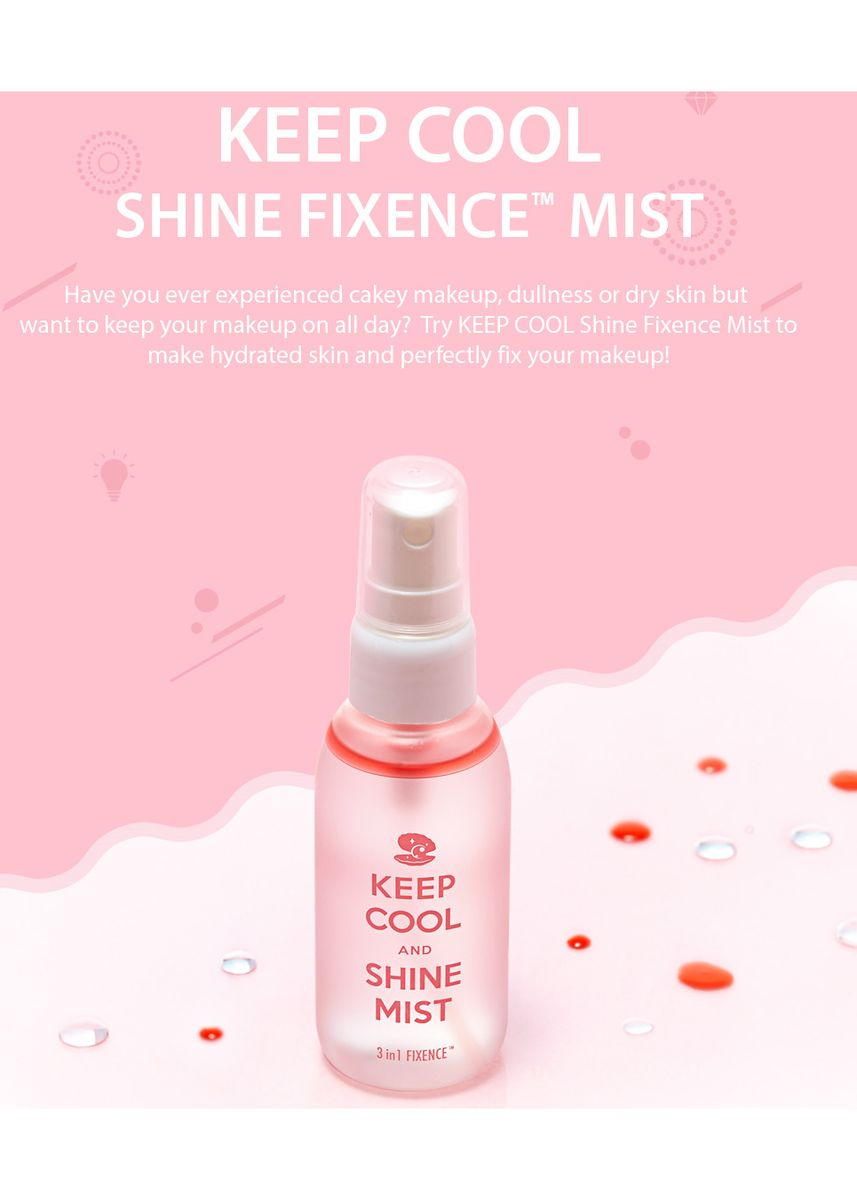 White color Whitening & Brightening . Keep Cool and Shine Mist -
