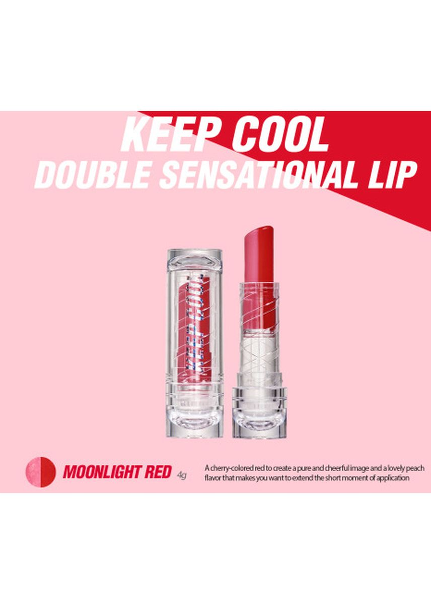 White color Lips . Keep Cool Double Sensational Lip | Moonlight Red -