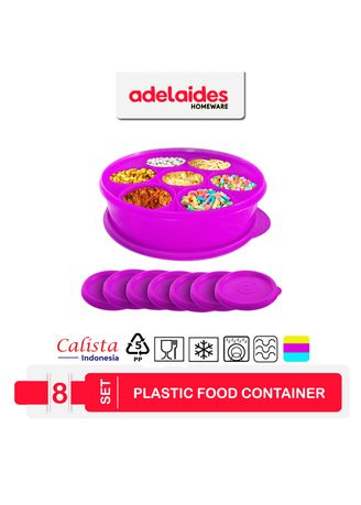 Violet color Kitchen . Calista Oedo Wadah Makanan Bulat Set isi 8 buah -