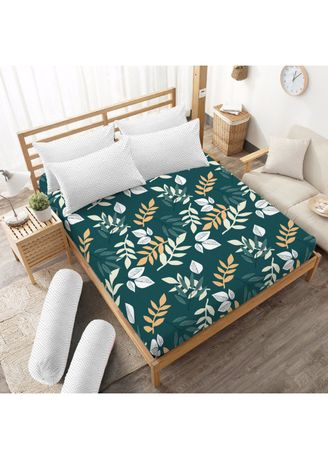 Green color Bedroom . Sprei King 180 B4 Graciela Kintakun Dluxe Microfiber (7in1) 20 cm -