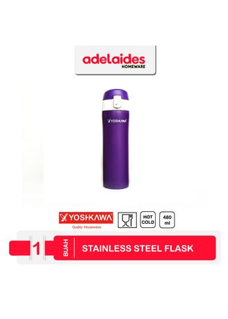 Violet color Kitchen . Yoshikawa Vacuum Flask 480 ml ELK4802 -