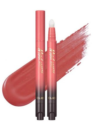 Pink color Lips . Clio Mad Matte Stain Lip Tint 007 2g -