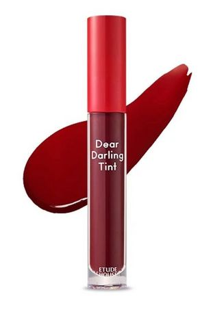 Red color Lips . Etude Dear Darling Water Gel Lip Tint RD05 5g -