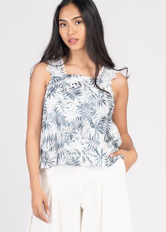 Multi color Tops and Tunics . Vivid Optimism Vina Sleeveless Top -