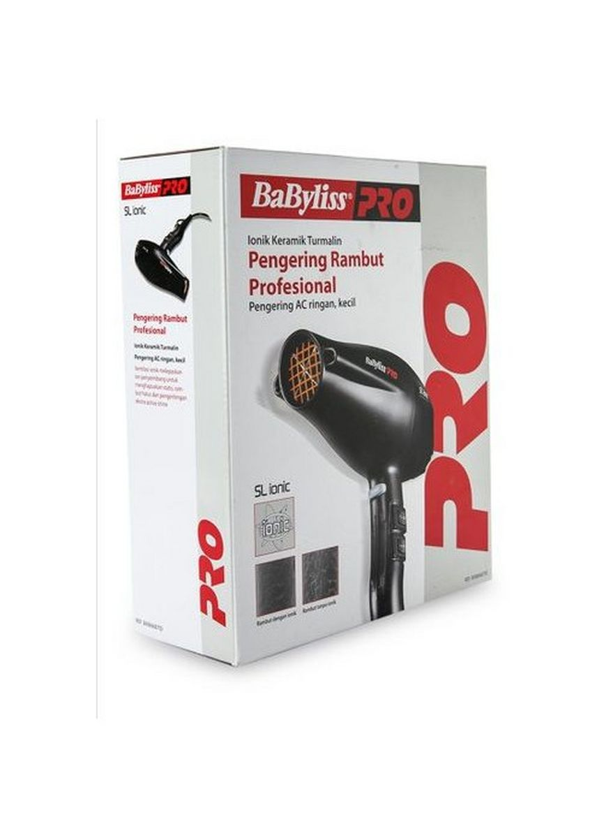 Hitam color Styling Rambut . Hair Dryer Ionic Ceramic Tourmalin - BAB6687ID -