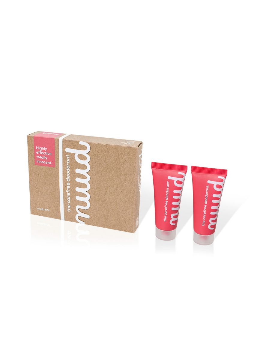 Pink color Personal Care . Nuud Natural Deodorant Smarter Pack (2 pcs 20ml) -