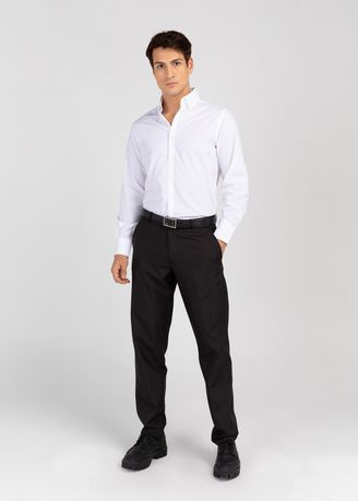Formal Shirts . PROFILE By IDENTITY Executive Series Mens Corporate Long Sleeve White Shirt -