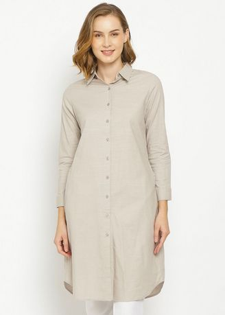 Beige color Tops and Tunics . PURICIA DRESS AIDEEN -