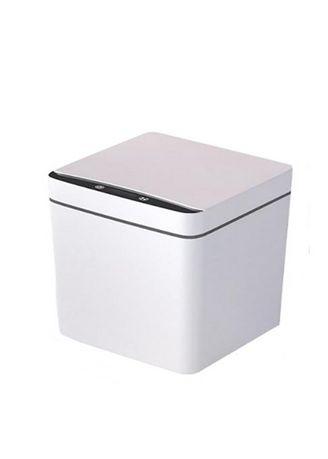 White color Storage . Infrared Intelligent Trash Can -