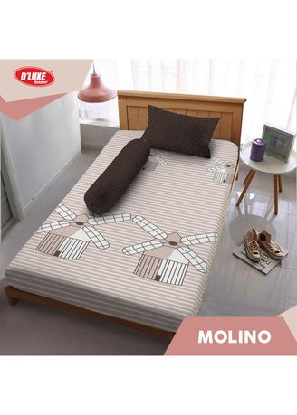Brown color Bedroom . Sprei Queen 160 Molino Kintakun D'luxe Microfiber (5 in 1) T 30 cm -