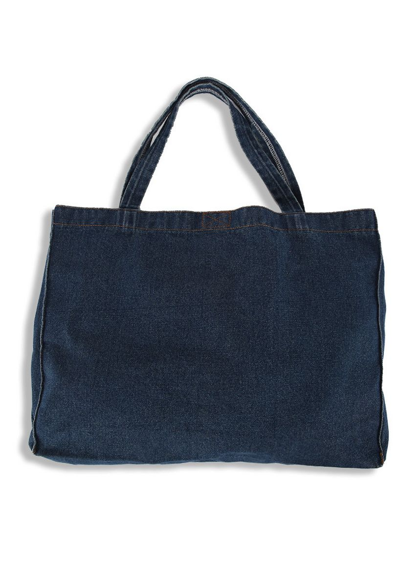 Biru Dongker color Tas Tote . 2nd Red Denim Tote Bag TB02 -