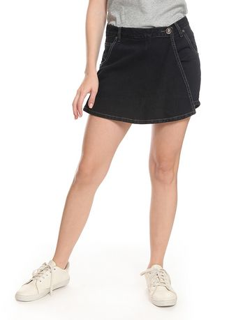 Hitam color Rok . 2nd Red Skirt Pants Jeans-Rok Celana RC01 -