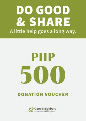 No Color color eVouchers . The Good Neighbors TYPHOON ULYSSES Donation Voucher - 500 -
