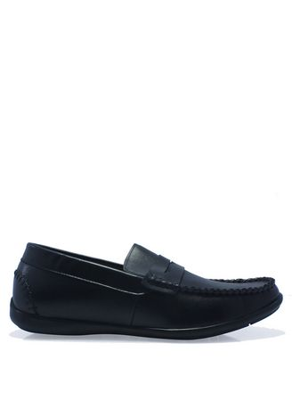 Hitam color Sepatu Kasual . Penny Loafers in Black -