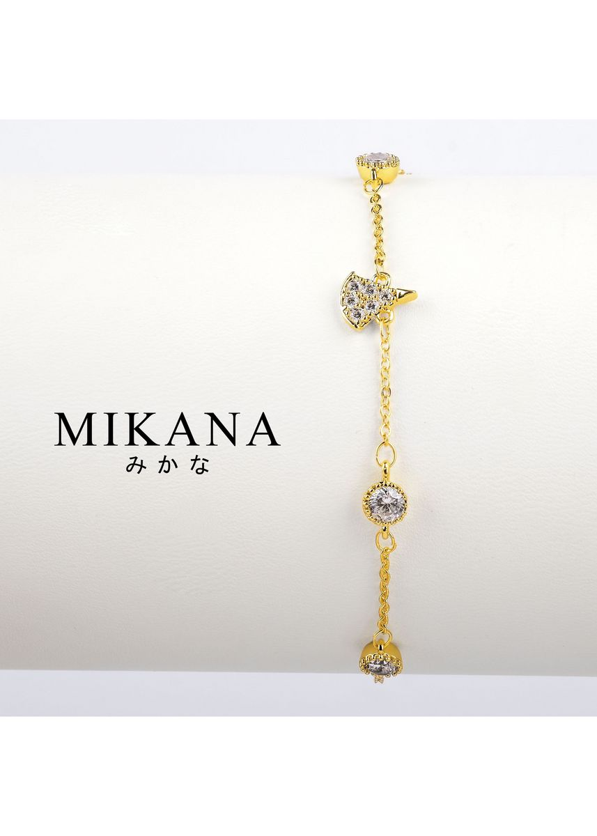 Gold color  . Mikana 18k Gold Plated Harue Link Bracelet accessories for women -