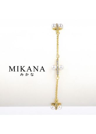 Gold color  . Mikana 18k Gold Plated Kairi Link Bracelet accessories for women -