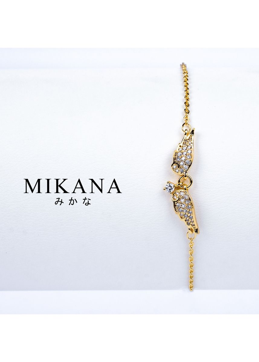 Gold color  . Mikana 18k Gold Plated Tenshin Link Bracelet accessories for women -