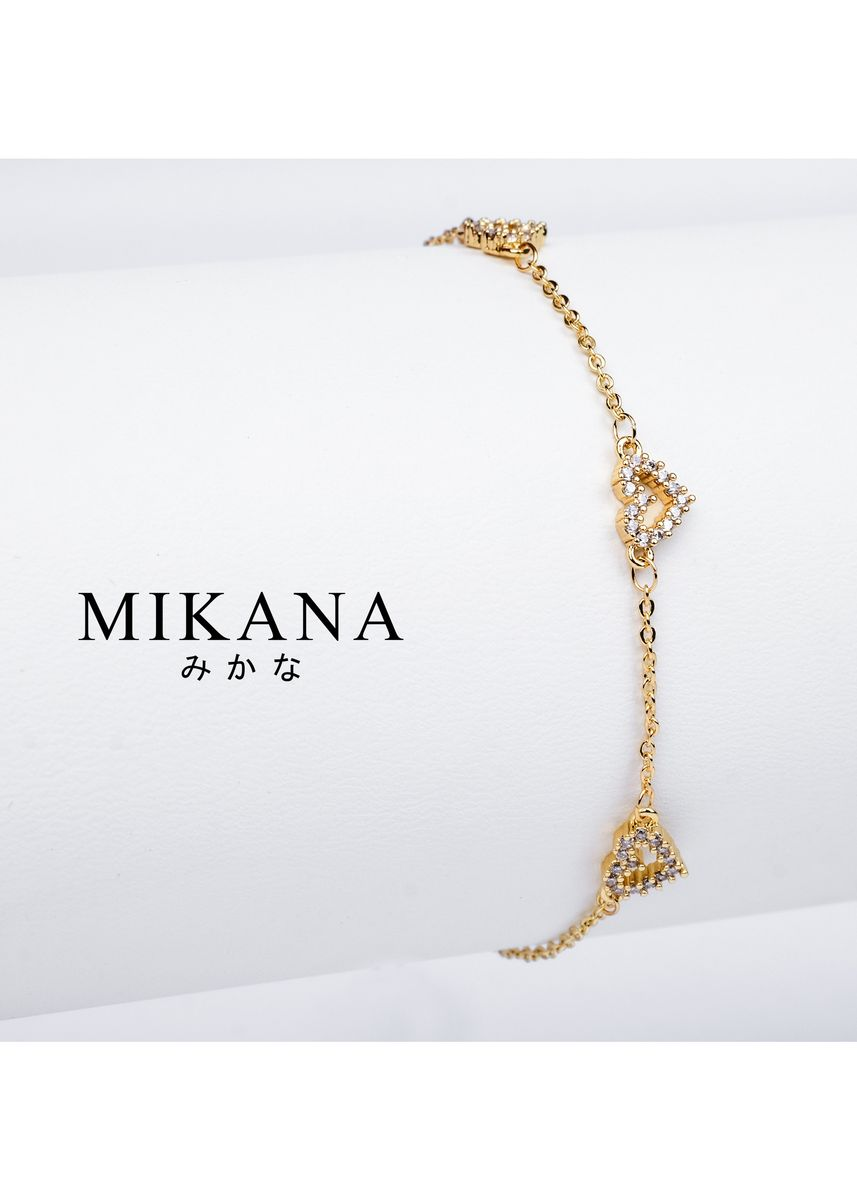 Gold color  . Mikana 18k Gold Plated Tsunade Link Bracelet accessories for women -