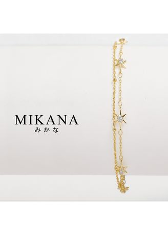 Gold color  . Mikana 18k Gold Plated Himiko Link Bracelet accessories for women -