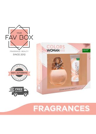 No Color color Fragrances . YOUR FAV BOX United Colors of Benetton Colors De Benetton Rose Set for Women (Eau De Toilette 80ml + Body Lotion 75ml) -