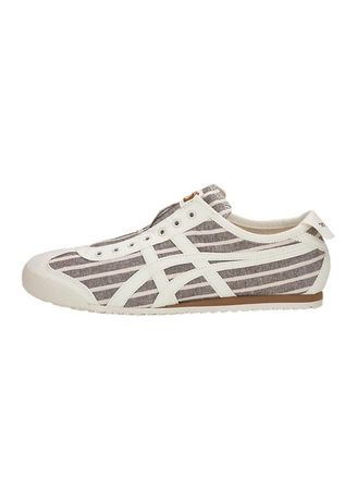Grey color Casual Shoes . Onitsuka Tiger Slip On Stripe Gray -