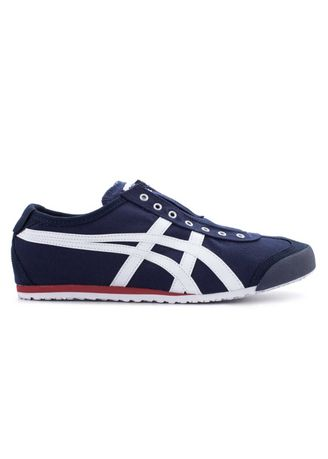 Blue color Casual Shoes . Onitsuka Tiger Slip On Navy White -
