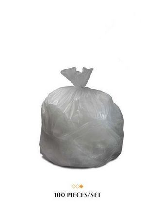 No Color color Washing & Cleaning . Garbage Bag 18 x 18 (XXL) - Transparent (100 Pieces/Set) -