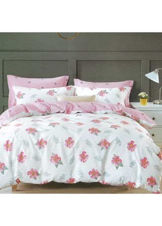 White color Bedroom . Osaka Set Sprei dan Bed Cover Pretty Sateen Jepang Extra King Size -