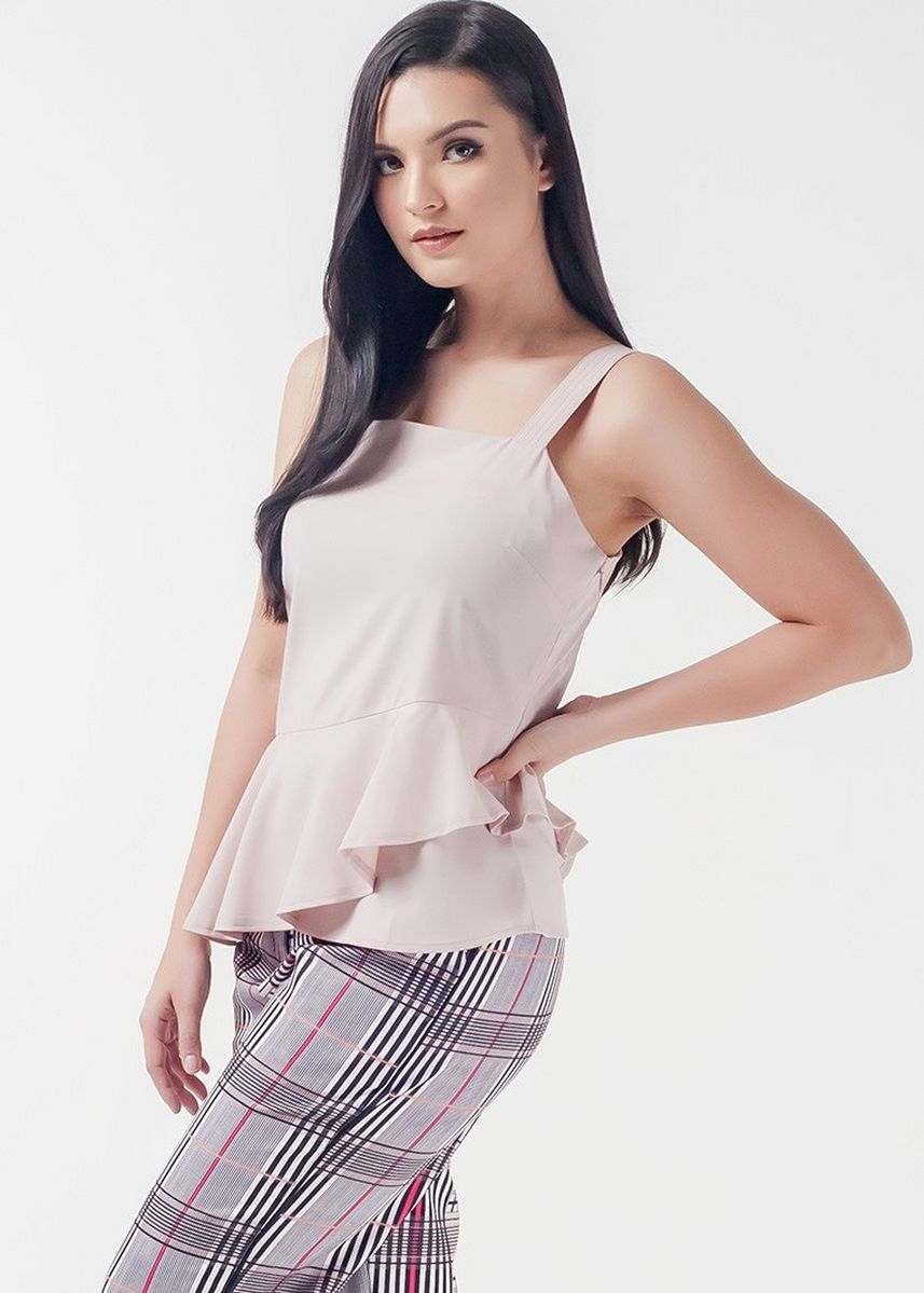 Beige color Tops and Tunics . Mysterious Elements Normy Sleeveless Top -