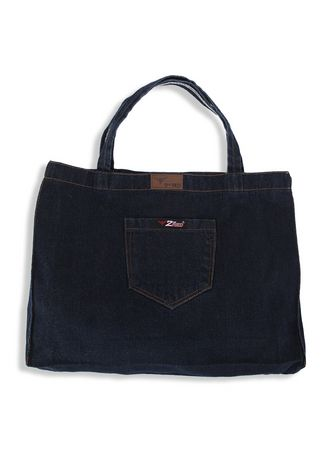 Black color Hand Bags . 2nd Red Denim Cambray Tote Bag CB01 -