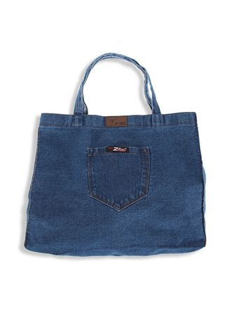 Biru Laut (Sian) color Tas Jinjing . 2nd Red Denim Cambray Tote Bag CB05 -