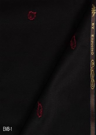 Black color Wool . Embroidery Jaquard EMB No.1 -
