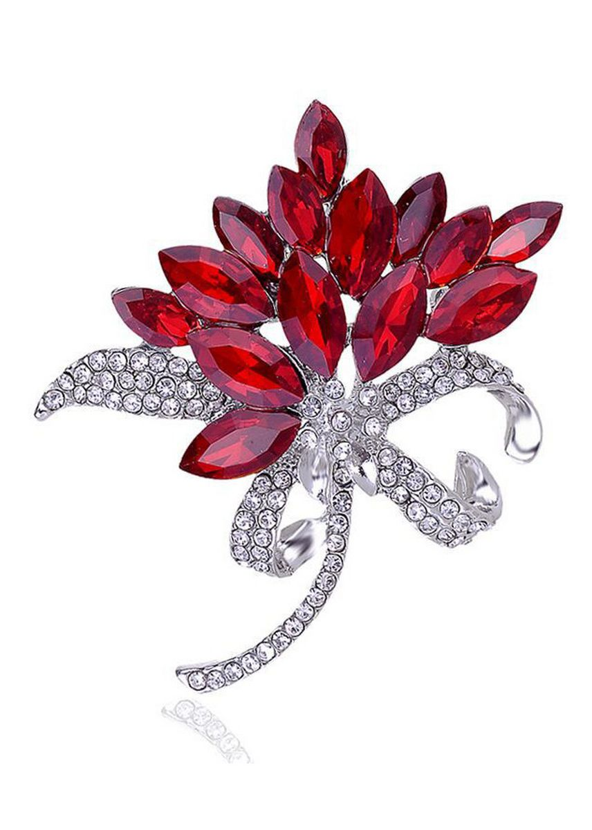 Red color Other . Wedding Flower Corsage High-end Crystal Glass Brooch -