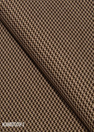 Khaki color Wool . Houndstooth CUT no.2 -