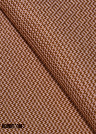 Brown color Wool . Houndstooth CUT no.7 -