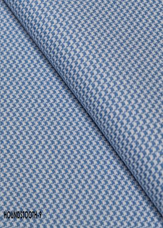 Light Blue color Wool . Houndstooth CUT no.9 -