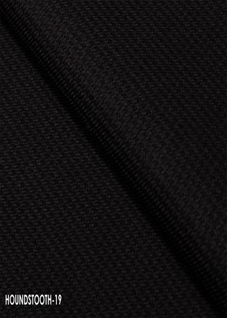 Black color Wool . Houndstooth CUT no.19 -