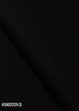 Black color Wool . Houndstooth Cut no.20 -