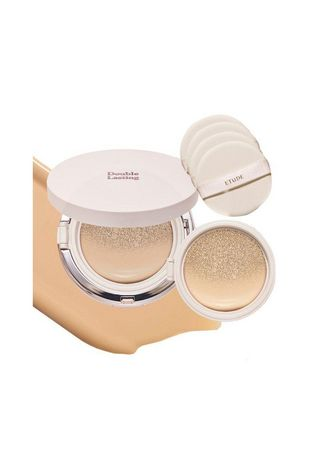 Beige color Face . Etude Double Lasting Cushion Cover Foundation - Sand -