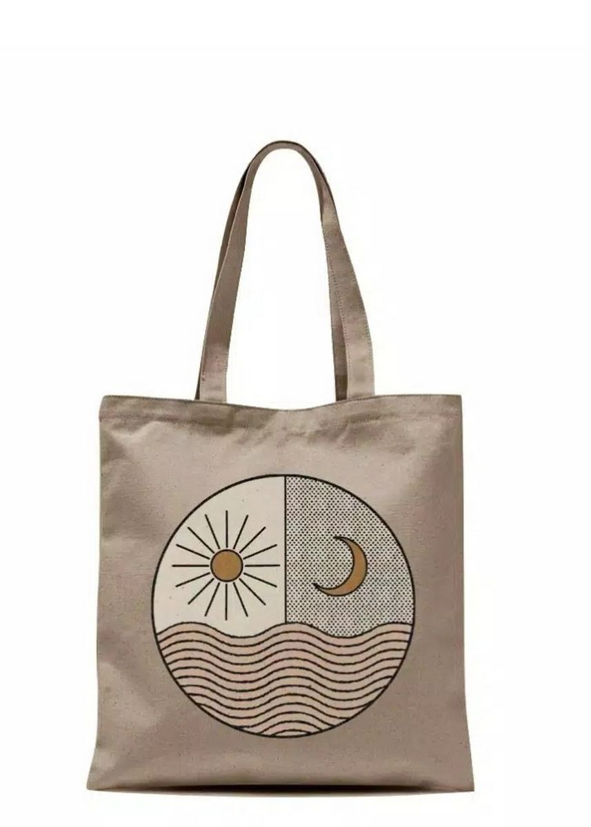 Tan color Tas Tote . totebag moonlight -