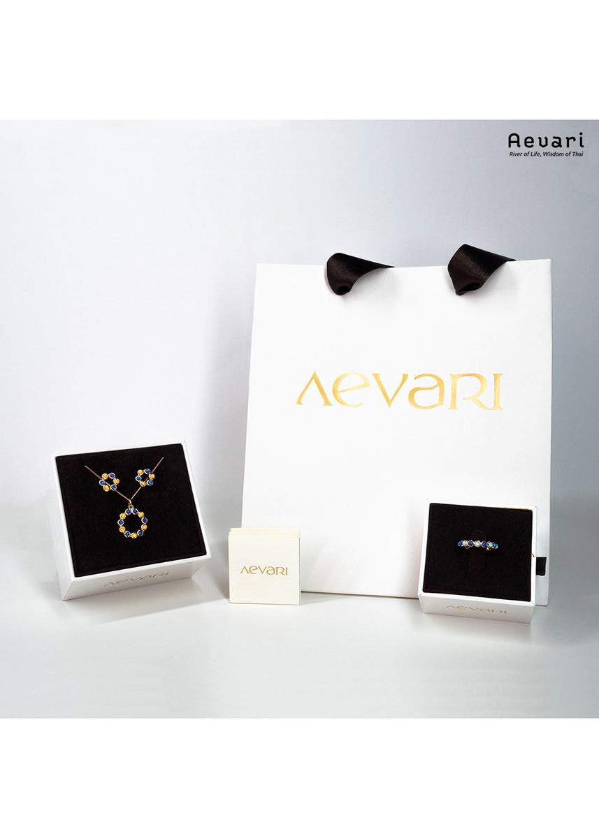 ชมพู color  . Aevari Ferris Wheel Rose Gold Ring -