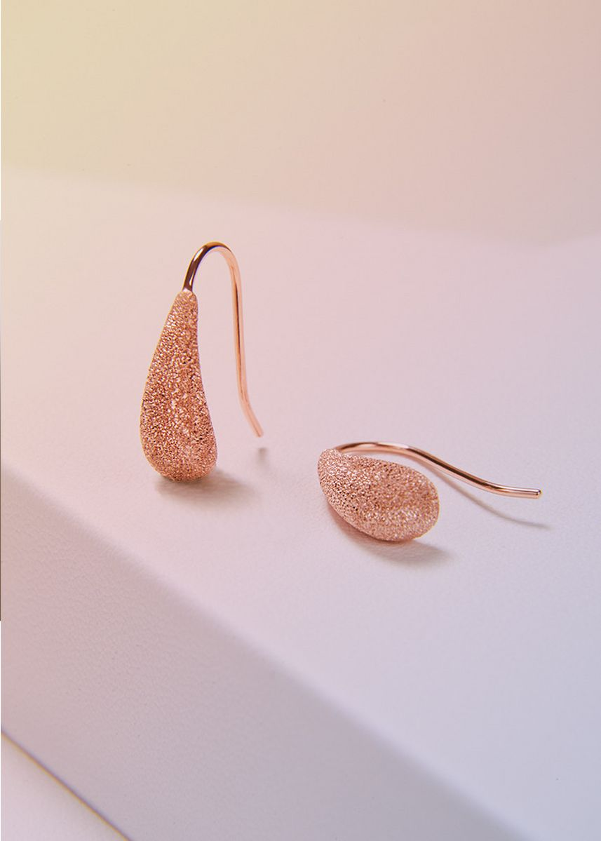 Pink color  . Aevari Candle Drop Rose Gold Earring -