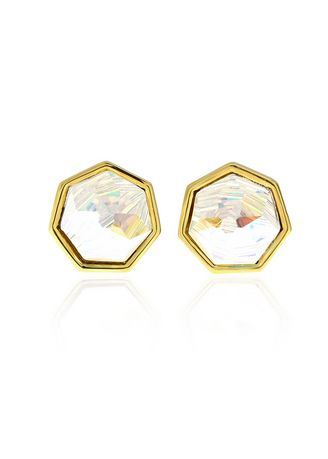 Gold color  . Aevari Shave Ice Gold Plated Earring -