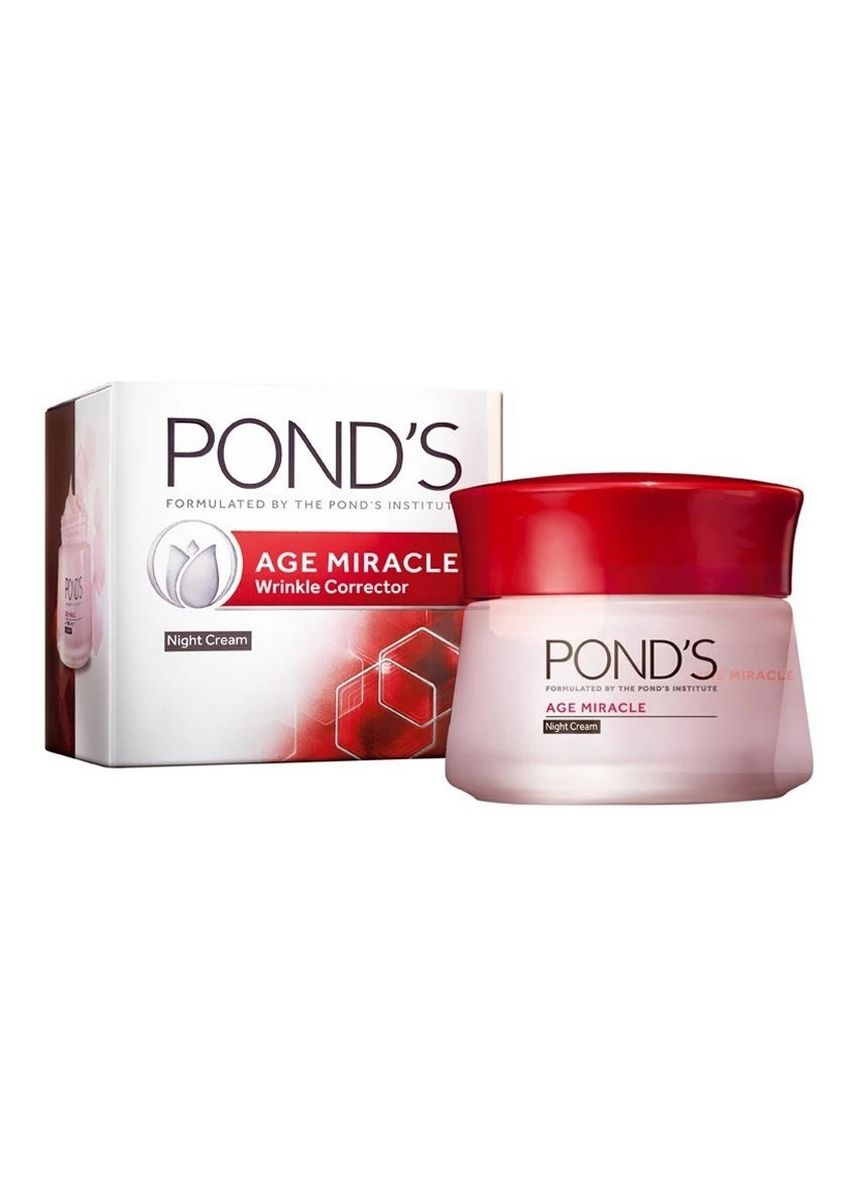Red color Anti-aging . Pond's Age Miracle Night Cream 50G -