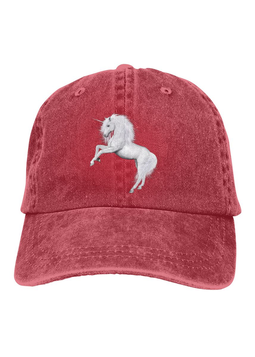 Red color  . Love Horse Unisex Denim Baseball Caps -