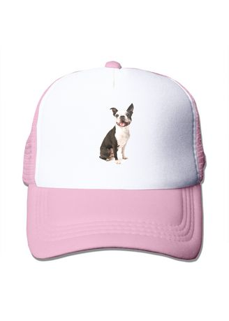Pink color  . Boston Terrier Mesh Trucker Caps - Pink -