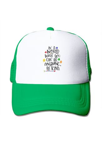 Green color  . Autism Awareness In A World Where You Can Be Anything Hats -