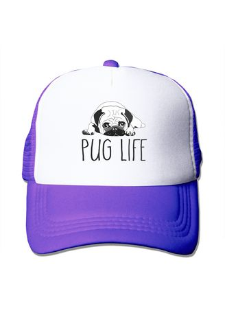 Purple color  . Pug Life Mesh Trucker Unisex Golf Cap -